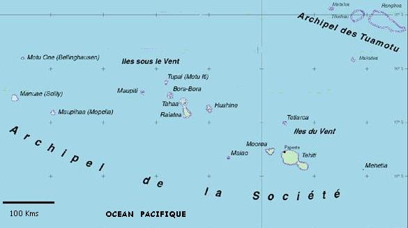 Situation géographique, superficie de la Polynesie